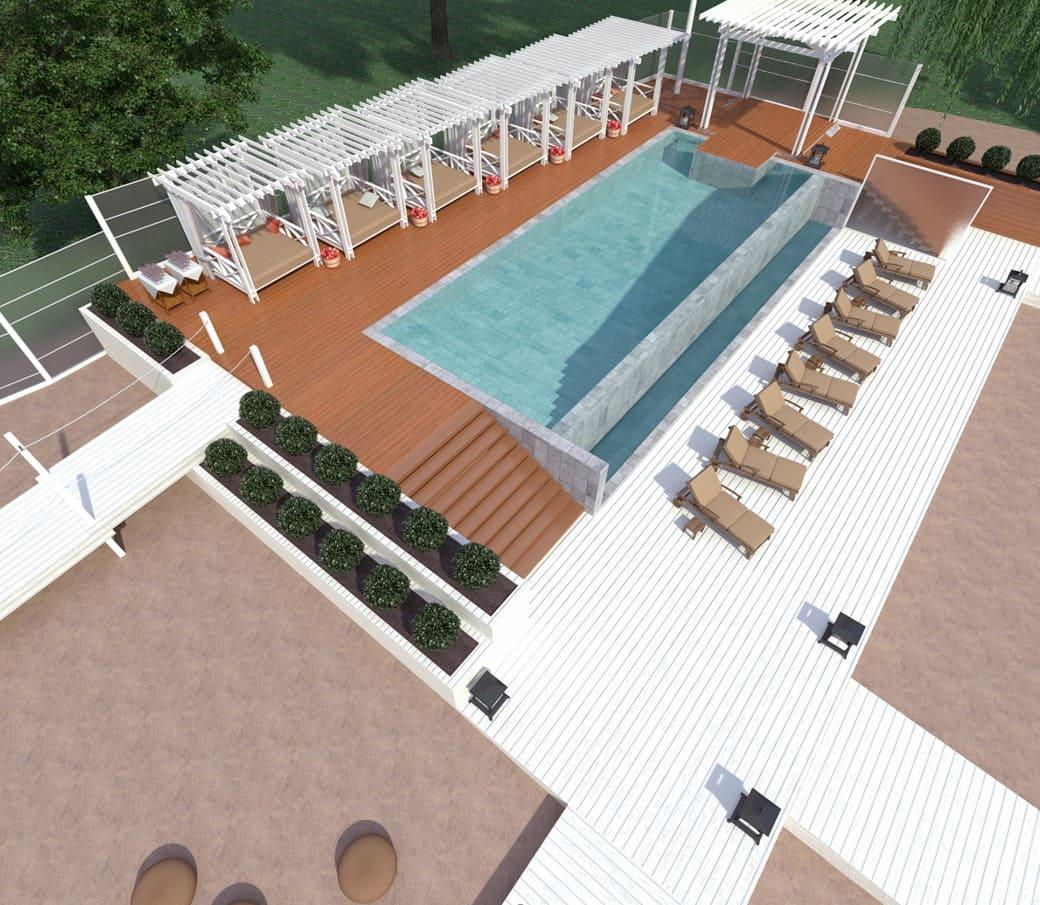 дизайн открытой площадки и бассейна для Royal Bar. АртДеп – 05