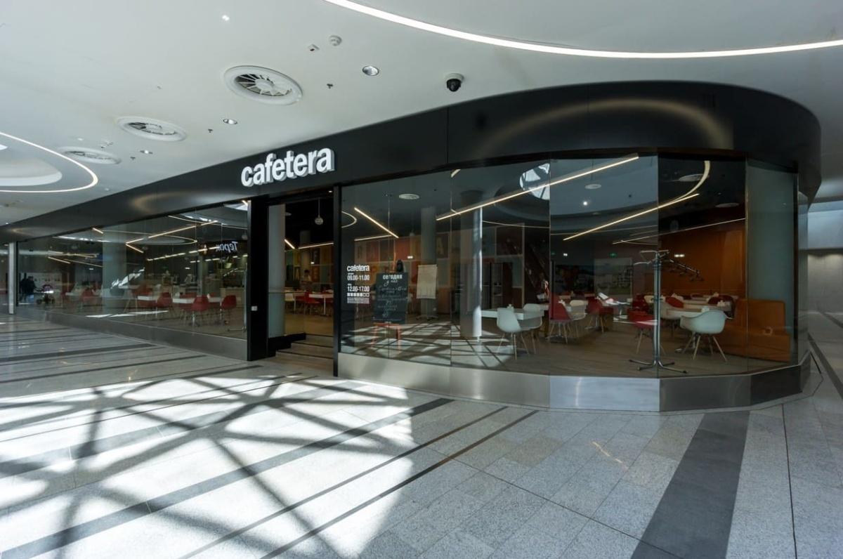 интерьер корпоративного ресторана «CAFETERA» для «Compass Group». АртДеп – 01