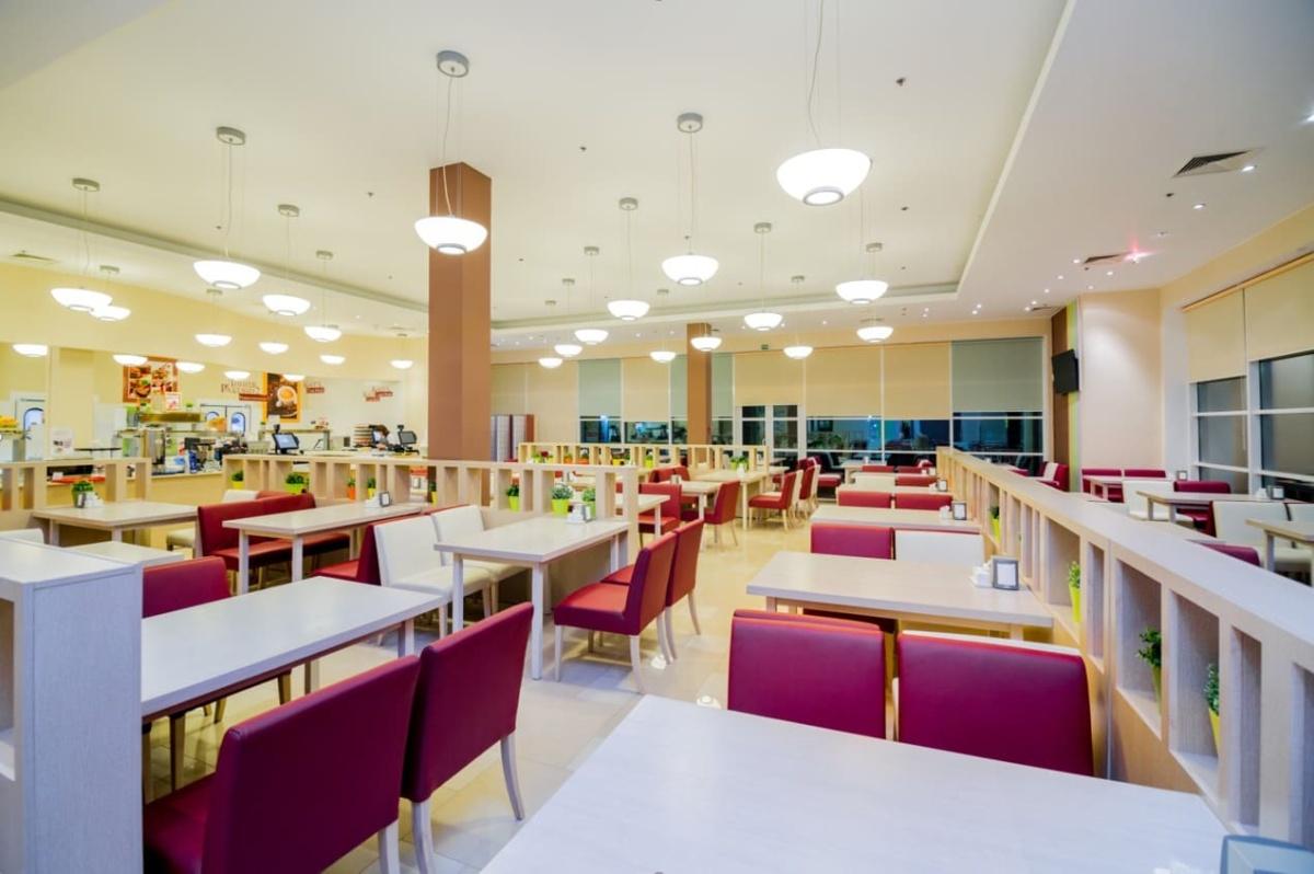 интерьер корпоративного ресторана в бизнес-центре 32 – 14. АртДеп – 01