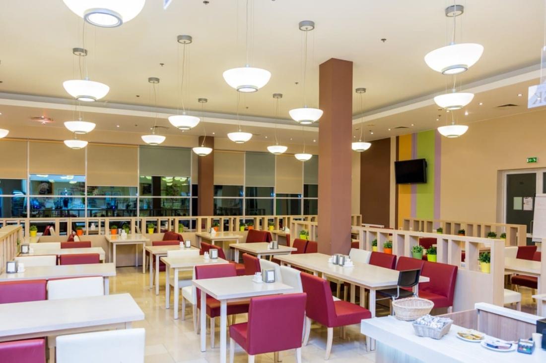 интерьер корпоративного ресторана в бизнес-центре 32 – 14. АртДеп – 05