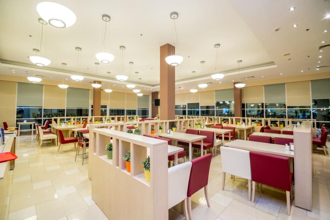 интерьер корпоративного ресторана в бизнес-центре 32 – 14. АртДеп – 07