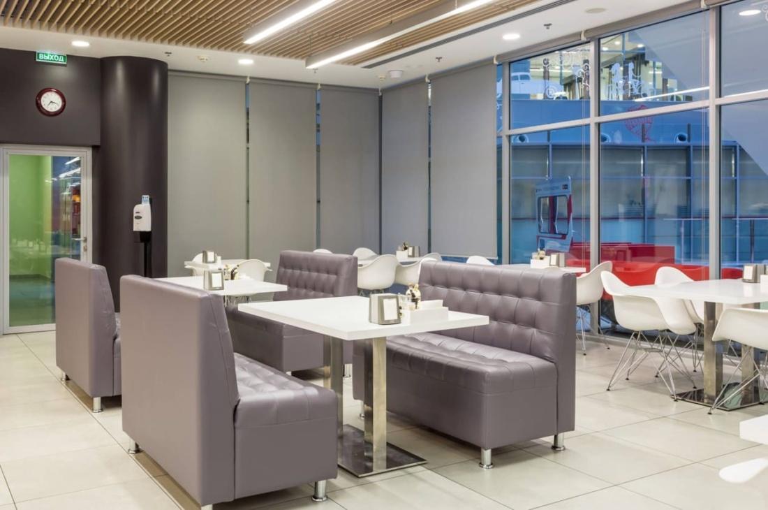Интерьер корпоративного ресторана DELIMARCHE для Compass Group. АртДеп – 04