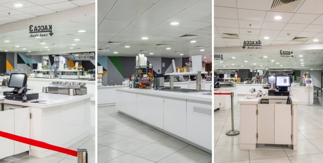 Интерьер корпоративного ресторана DELIMARCHE для Compass Group. АртДеп – 09