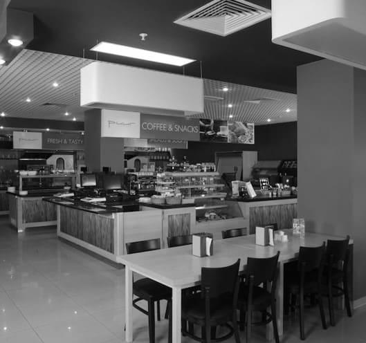 "интерьер ресторана EUREST в бизнес-центре ""Рига-Ленд"". АртДеп – 08"