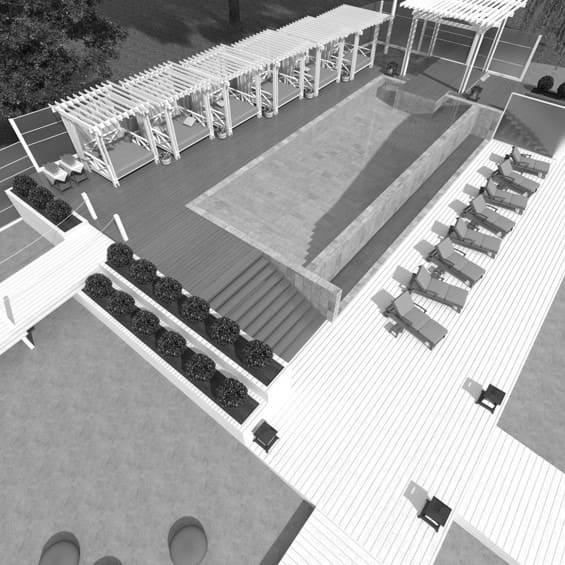 дизайн открытой площадки и бассейна для Royal Bar. АртДеп – 08