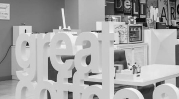 Интерьер корпоративного ресторана